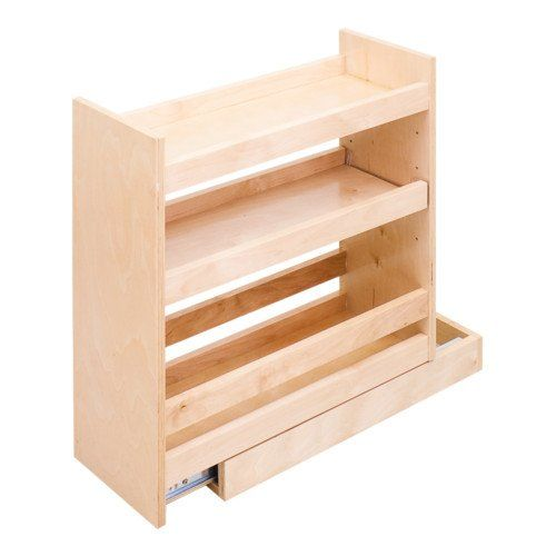 Base pull out spice rack cabinet fits 9 inch full height Bathroom cabinet organizers pull out