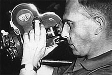"""Chris Marker, the director and cinematographer of La Jetèe.  born in 1921 and died in 2012 he is french multimedia artist sometimes called """"the prototype 21st century man"""" due to his innovative style and thinking."""