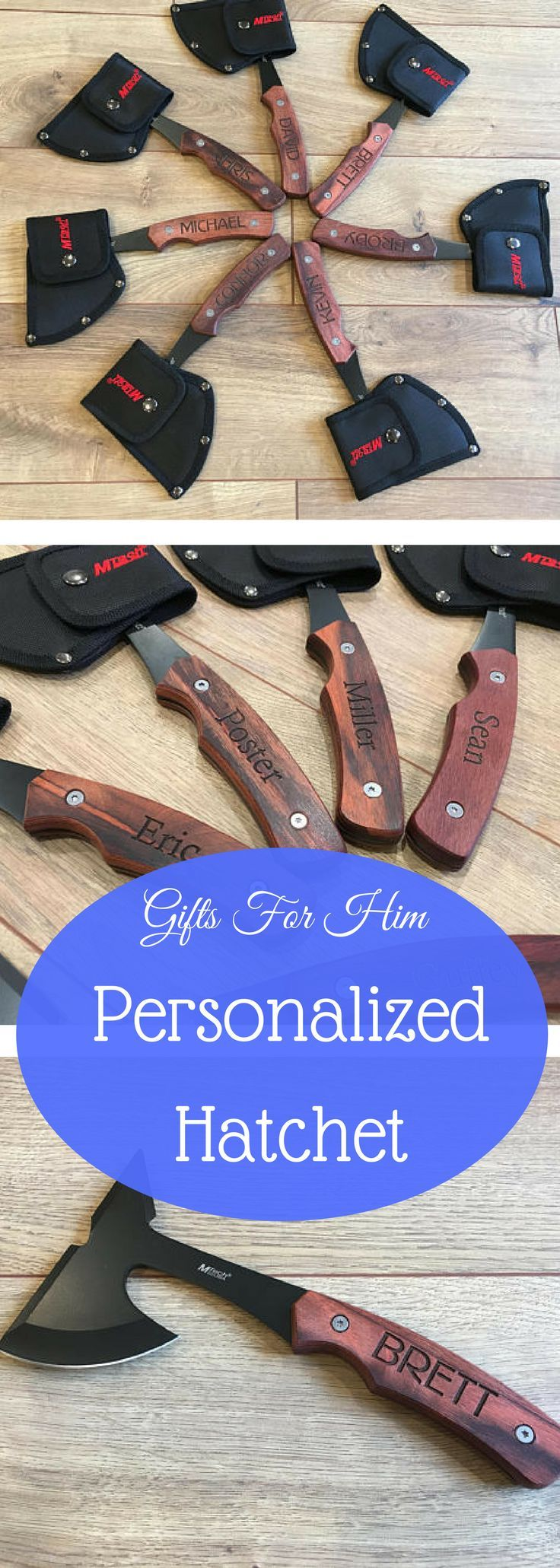 Valentines Day Gift for Him | Guy Gifts | Guy Best Friend Gift | Gifts for Men | Gifts for Boyfriend | Gifts for Him | Engraved Axe, Hatchet #valentinesday #giftsforhim #ad