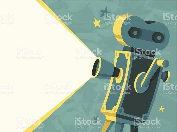 Câmera de vídeo vetor e ilustração royalty-free royalty-free