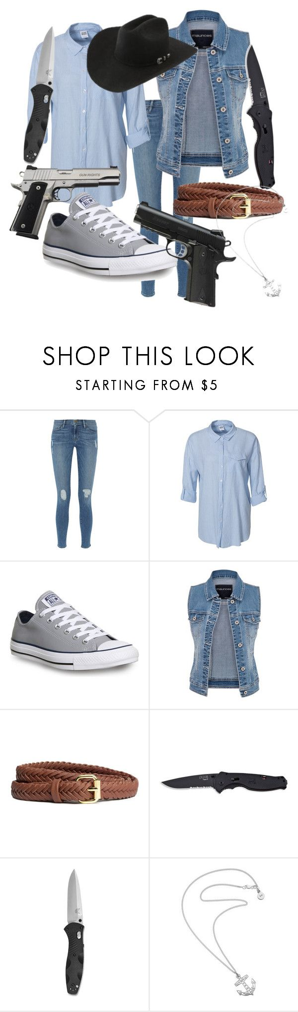 """""""Evan Rhee *The Walking Dead Fanfiction Outfit 004*"""" by lauren-mossgotheridge ❤ liked on Polyvore featuring Frame, Vero Moda, Converse, maurices, H&M, Caliber, Handle and Karen Walker"""