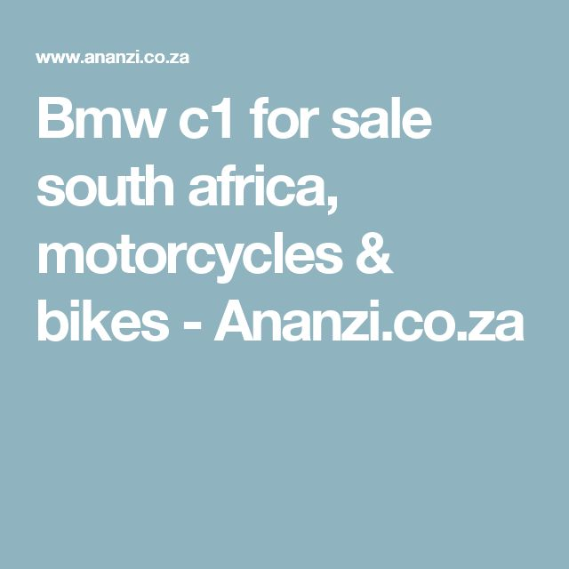 Bmw c1 for sale south africa, motorcycles & bikes - Ananzi.co.za