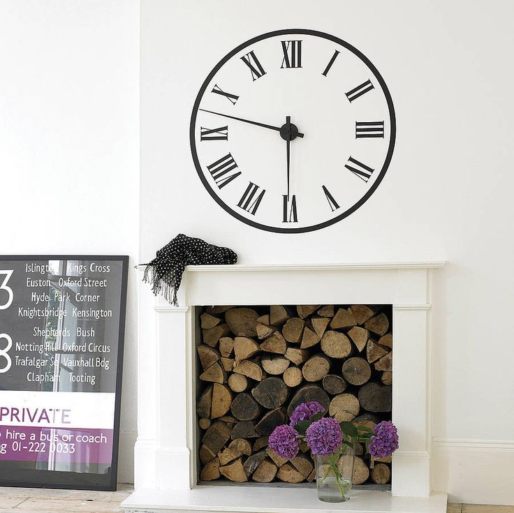 Working Station Clock Wall Sticker Part 87