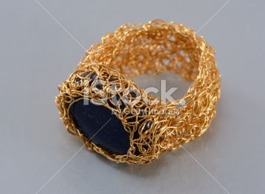 Wire Crochet Ring Royalty Free Stock Photo