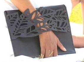 DSCHUNGLE Clutch / Handbag / Ipad Case (100% Leather)