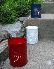I could totally use my empty food storage cans for this idea for any time of the year!