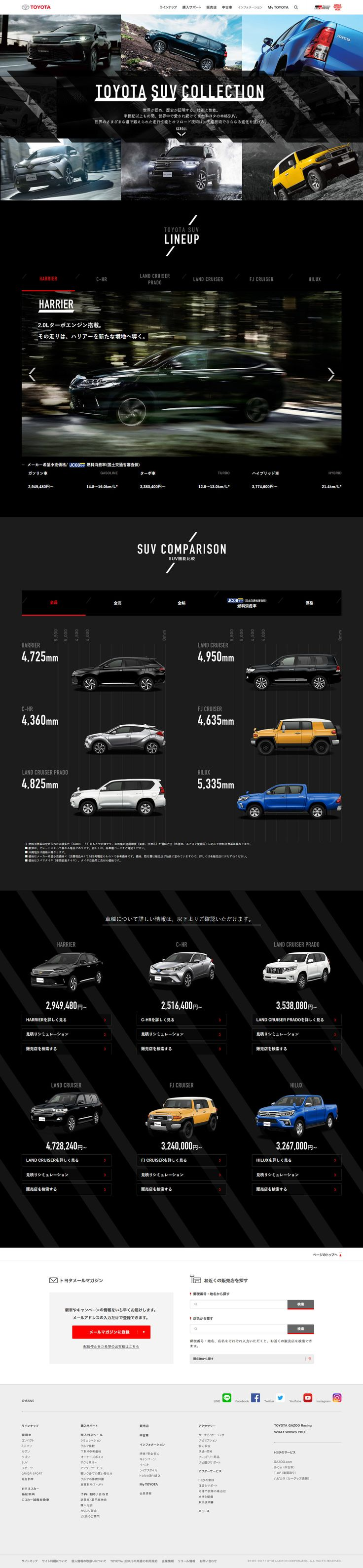 toyota suv collection suv web http