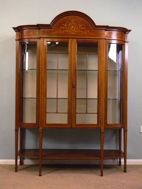 antique cabinets for sale | 09486r1 Antique Edwardian Display Cabinet For Sale