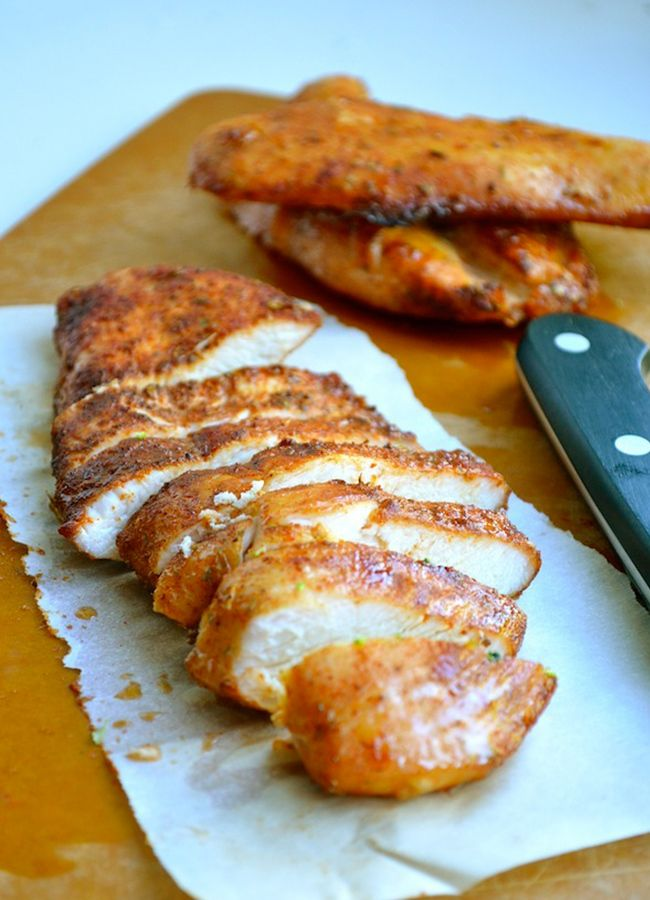7. Brown Sugar Spiced Baked Chicken #healthy #chicken #recipes http://greatist.com/health/healthy-exciting-chicken-breast-recipes