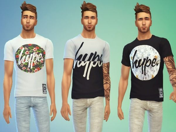 The Sims Resource: Just Hype t-shirts by Odey92 • Sims 4 Downloads
