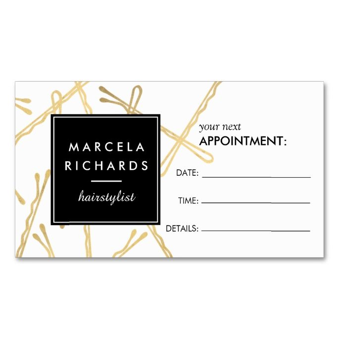 2211 best appointment business card templates images on pinterest chic gold bobby pins hair stylist appointment card hairstylist business cardscard templatesbusiness fbccfo Choice Image