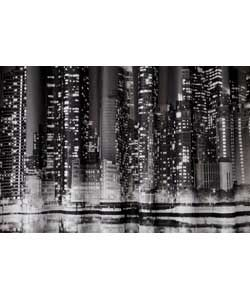 HOME New York Skyline Shower Curtain - Multicoloured.
