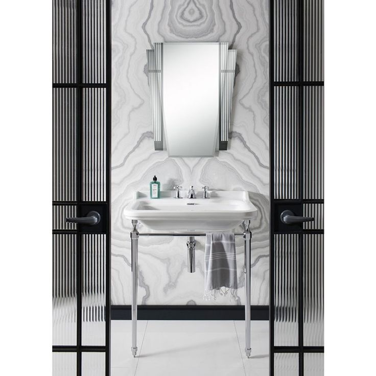 Add A Touch Of Art Deco Glamour To Your Bathroom With The Stunning Waldorf Mirror From
