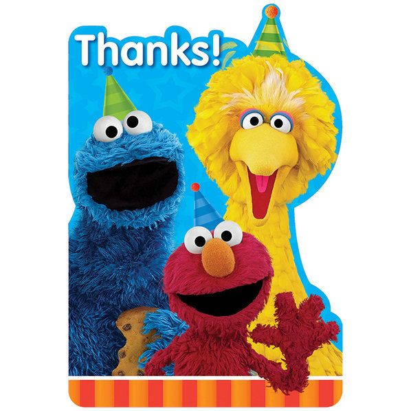 Check out Sesame Street Invitations | Sesame Street Birthday party supplies for your next birthday bash from Wholesale Party Supplies from Wholesale Party Supplies
