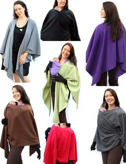 Fleece Poncho Maternity Coat and Babywearing Jacket Wrap Around all in one.  Super cool.