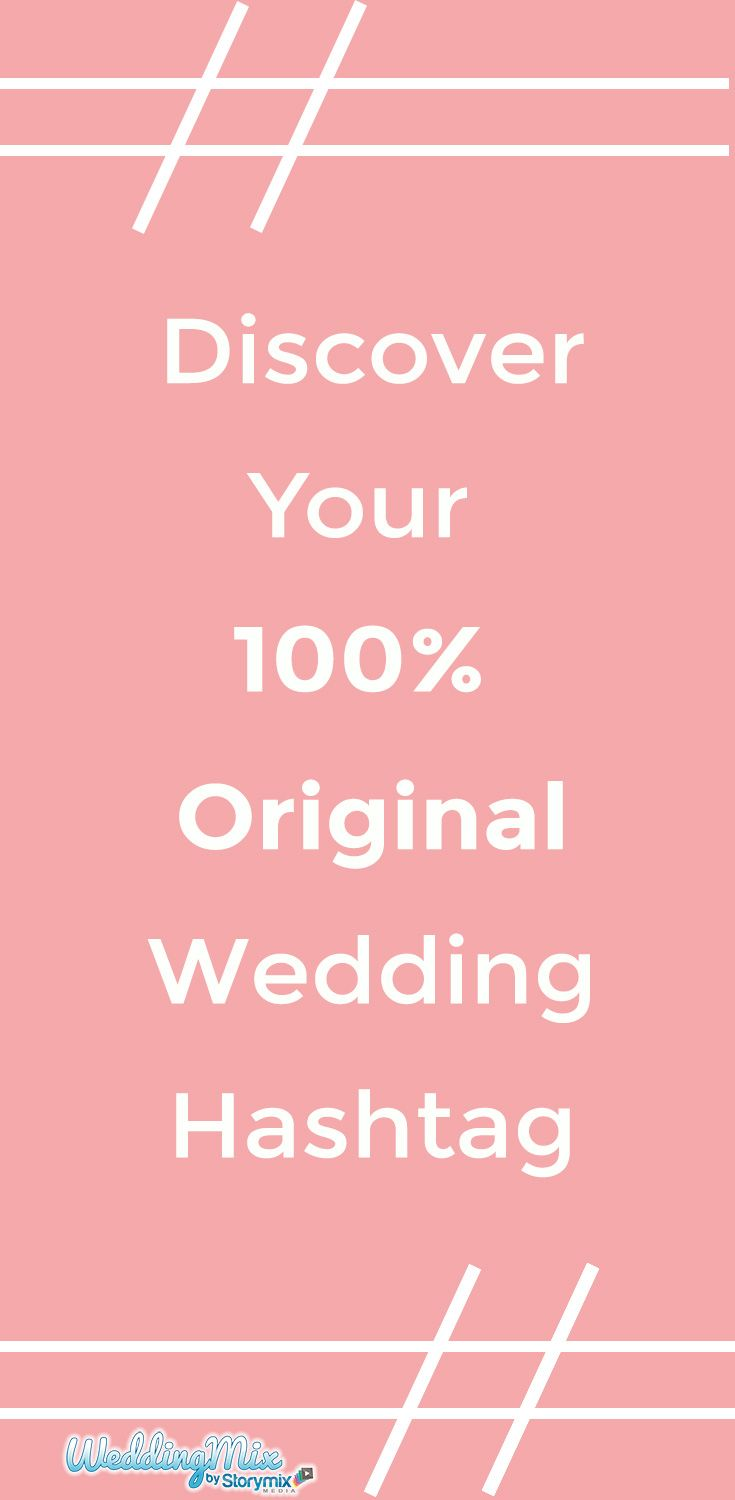 Create a wedding hashtag that's 100% original! Only the WeddingMix hashtag generator gives you creative ideas - and makes sure you're the only one using your unique hashtag - find your perfect hashtag!