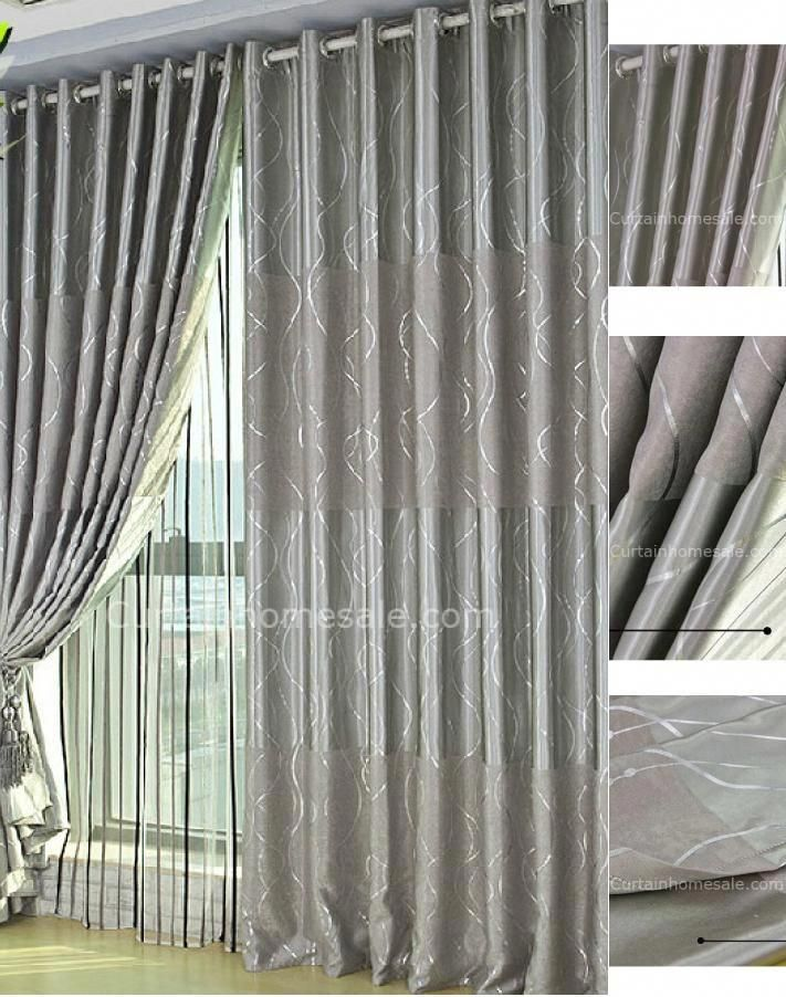 Modern Silver Grey Curtains Uk With Lines On Panels Farmhouse Silver Grey Curtains Curtains Uk Curtains