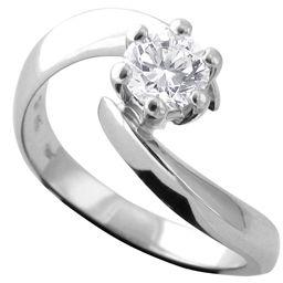 prsten 18k brilijant