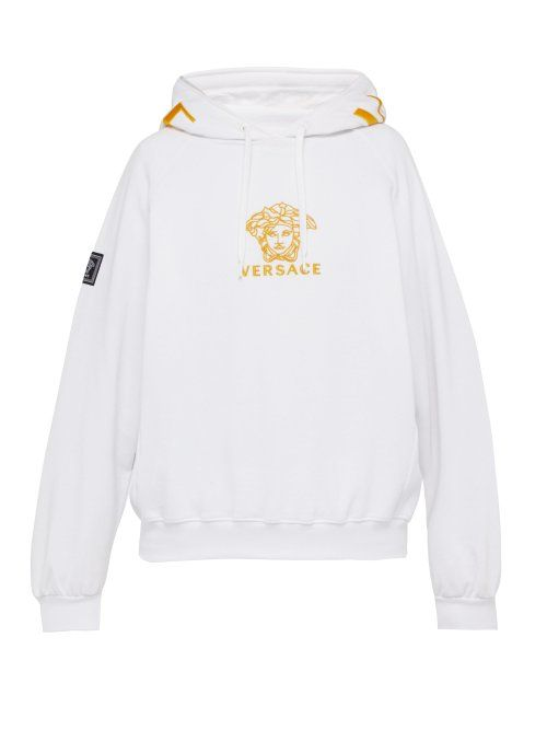 bbc758f1dc VERSACE VERSACE - MEDUSA EMBROIDERED COTTON HOODED SWEATSHIRT - MENS ...
