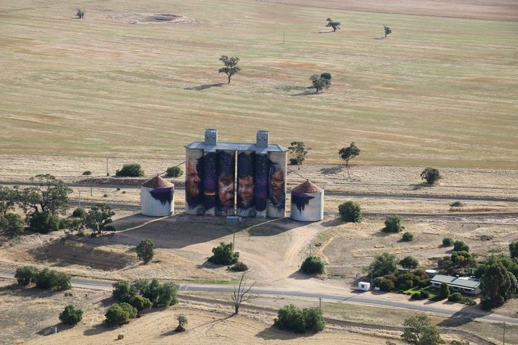Sheep Hills from the air. Dimboola Banner