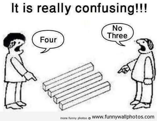 Optical illusion! Deepness is, this is how it is in an arguement!