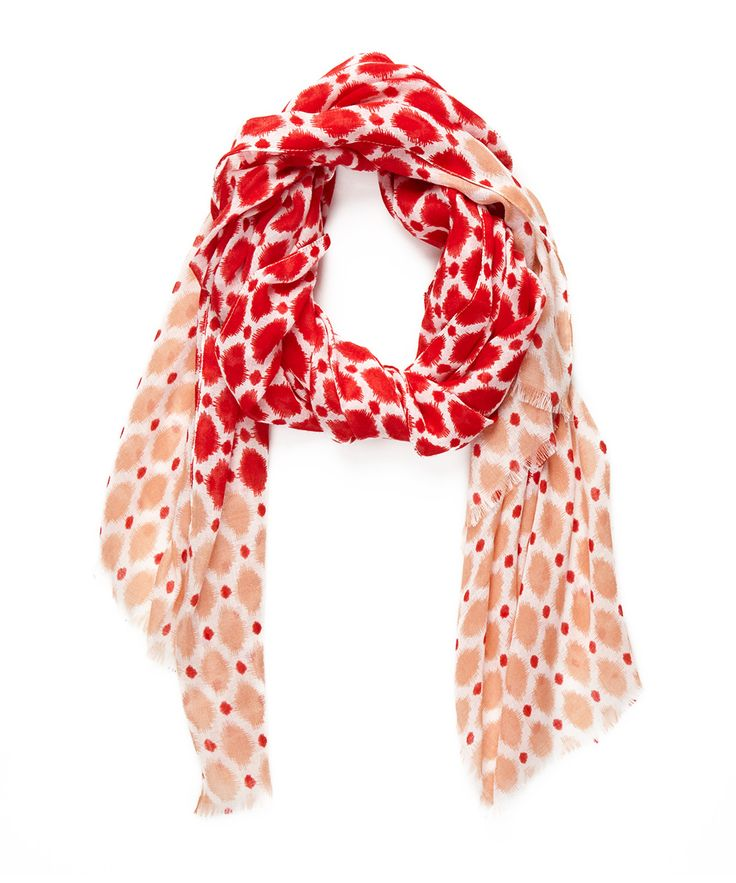 This light scarf in whimsical print is sure to take you through…