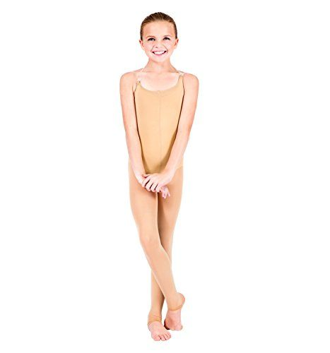 Body Wrappers Soft Body Tights, Suntan, Small/Medium:   Supplex/Lycra. Camisole body tight features a convertible foot, low back and adjustable clear straps./b