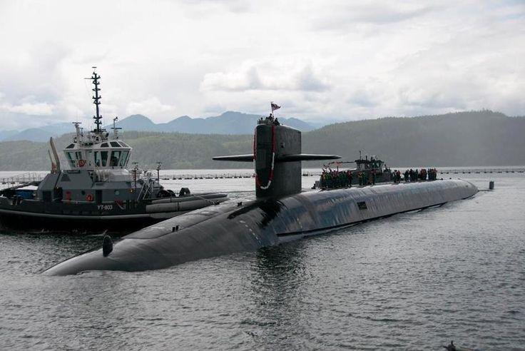 """Стратегическая подлодка """"Небраска"""" вернулась с испытаний после трехлетнего ремонта"""