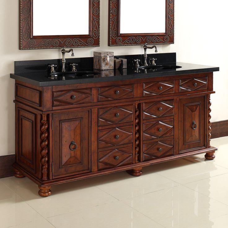 "Continental 72"" Double Bathroom Vanity Base | Bathroom ..."