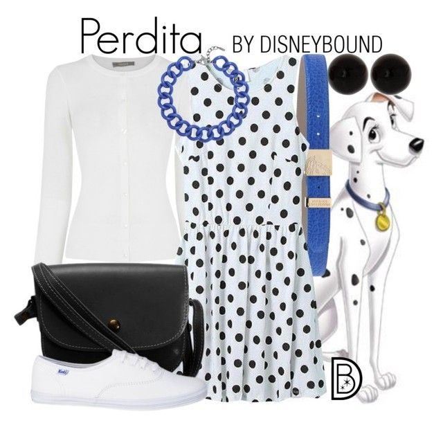 """""""Perdita"""" by leslieakay ❤ liked on Polyvore featuring Versace, Oasis, BaubleBar, disney, disneybound and nationaldogday"""
