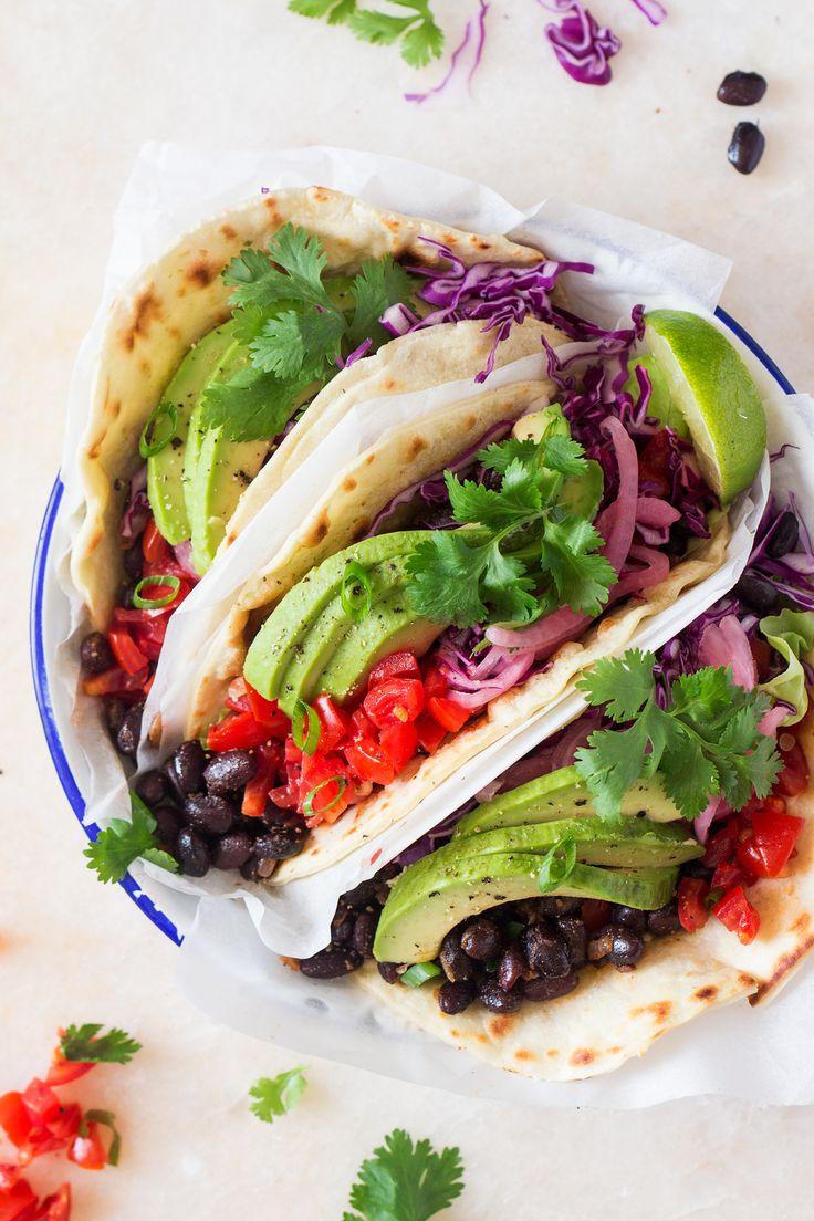 vegan black bean tacos three portion