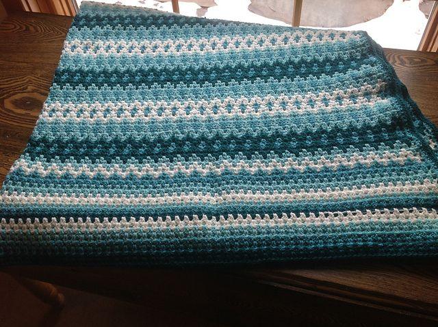 Beautiful fair isle crochet afghan blanket http://www.ravelry.com ...