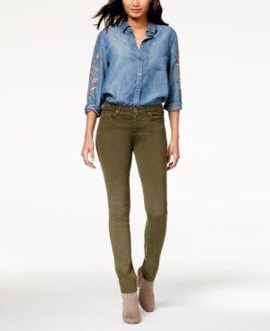 Ag Adriano Goldschmied Prima Sateen Skinny Jeans - Green 31