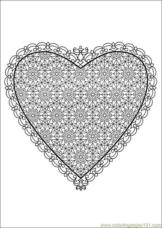 Best Coloring Pages Of Valentines Day