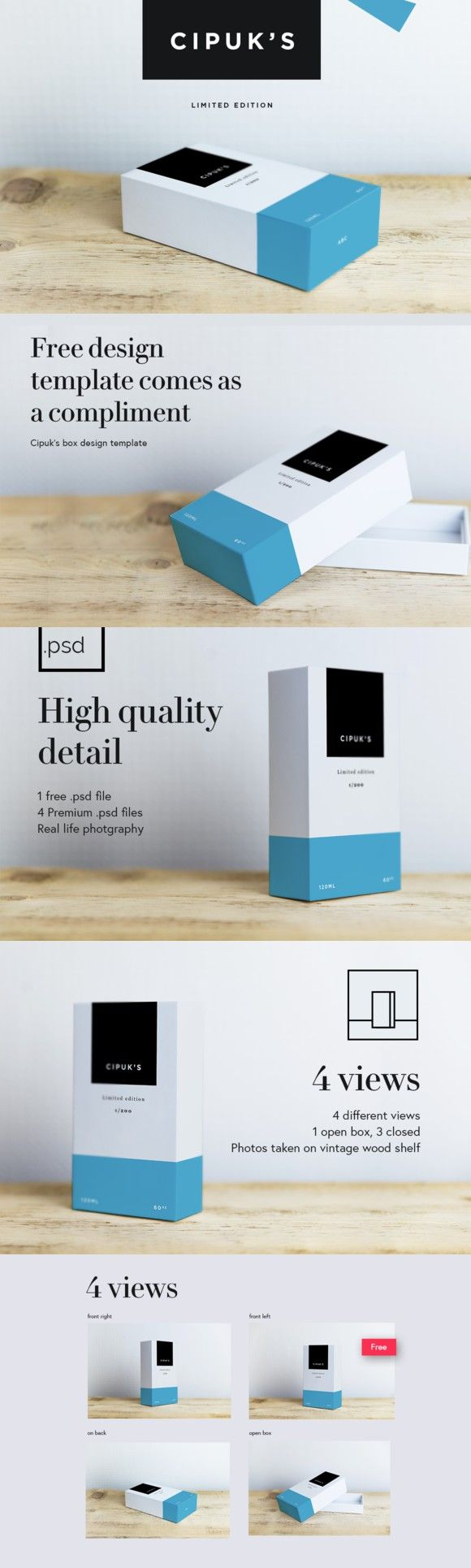 Download Cipuks Premium Box mockup / template | Box mockup, Mockup ...