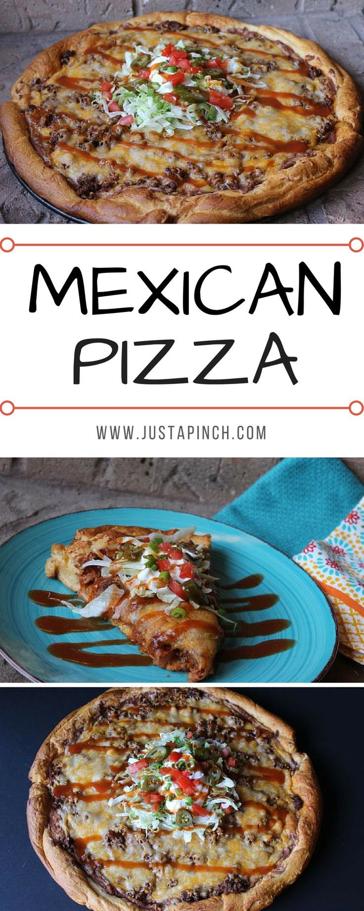 Mexican Pizza is a delicious recipe to celebrate Taco Tuesday!