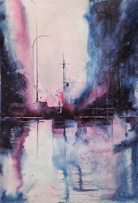 Aitor Renteria: Estructuras urbanas 3 (watercolor)