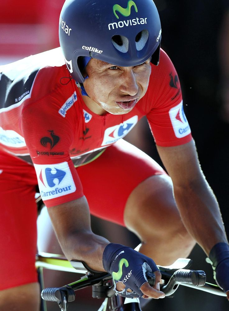 Nairo Quintana 10th stage Vuelta 2014. (AP Photo/Ivan Aguinaga)