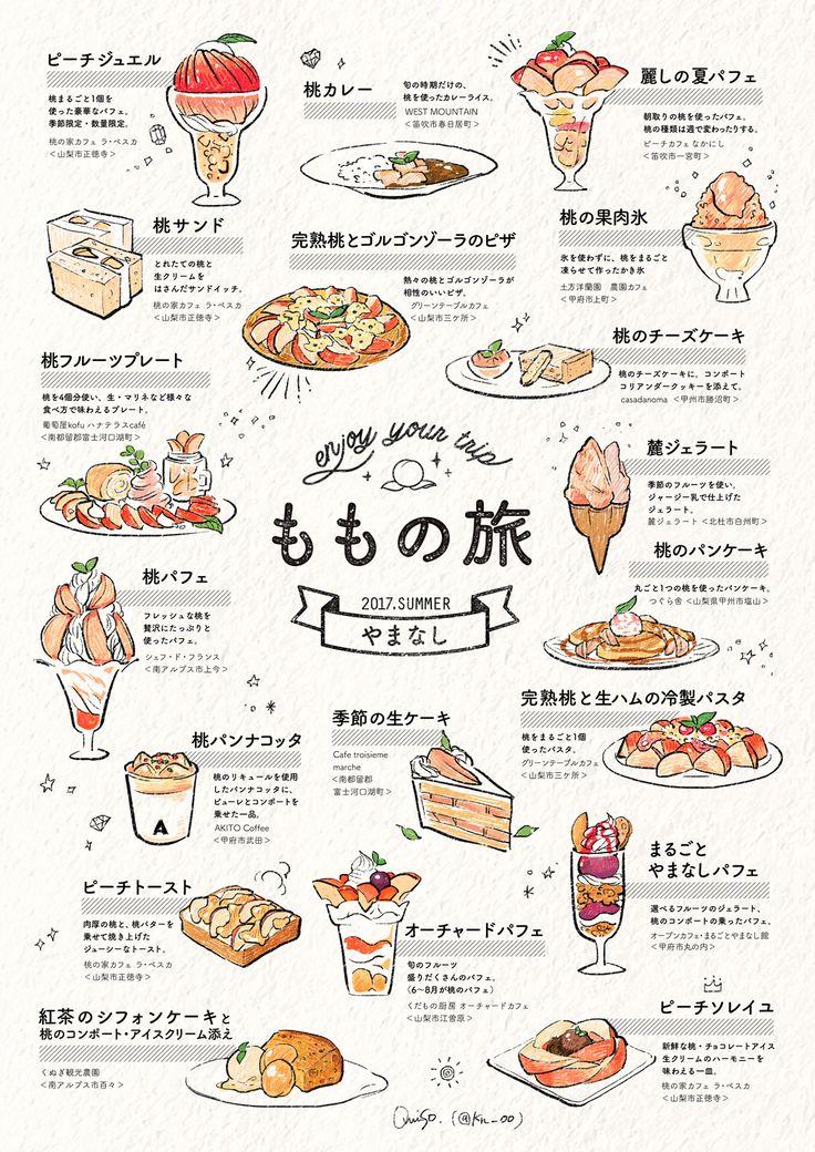 「ももの旅 」 illustration by omiso. http://kn.o0o0.jp/