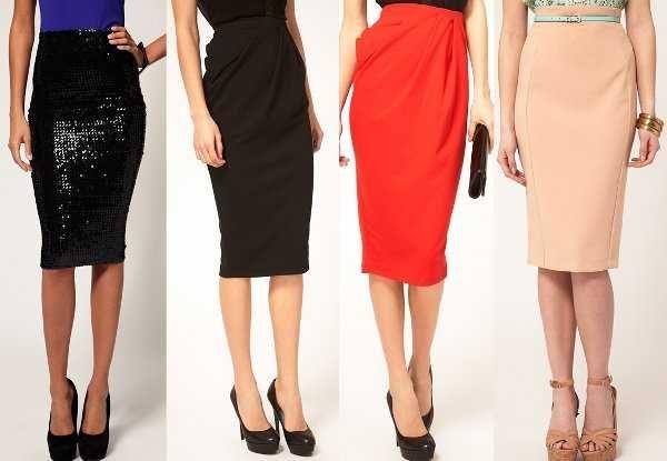 61b9703b6 Modelos de faldas hasta la rodilla | Moda | Faldas pegadas, Faldas y ...
