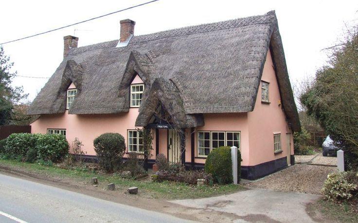 hunston suffolk warm pink walls and dormer windows make