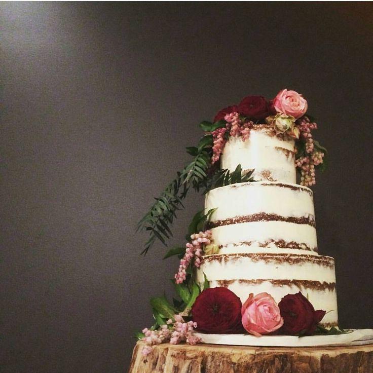 3 tier naked wedding cake!