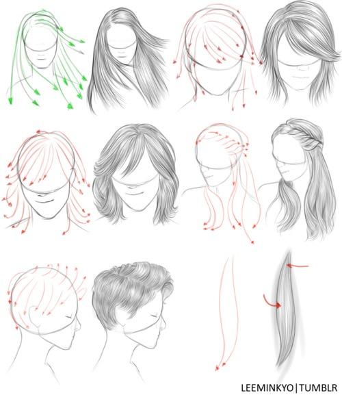 how to draw basic anime hair