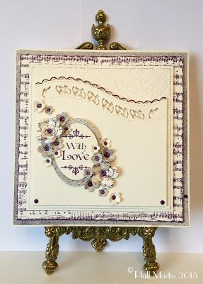 Chic Aubergine and,... plain cream cardstock!