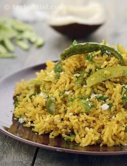 Tendli Bhaat, Maharashtrian Tendli Bhaat, Ivy Gourd Rice recipe | Indian Recipes | by Tarla Dalal | Tarladalal.com | #1967