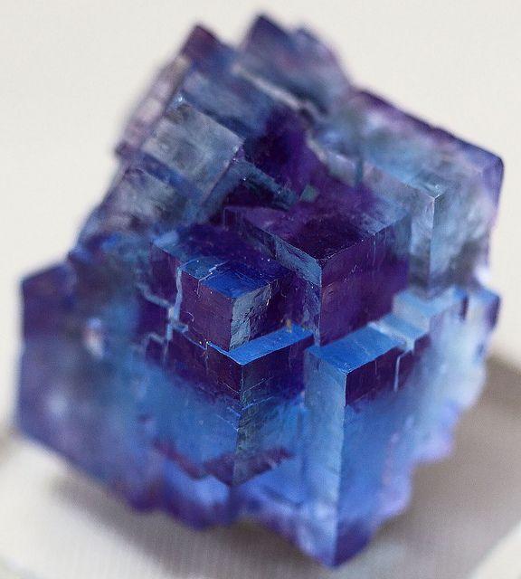 Blue Fluorite with Phantom Purple