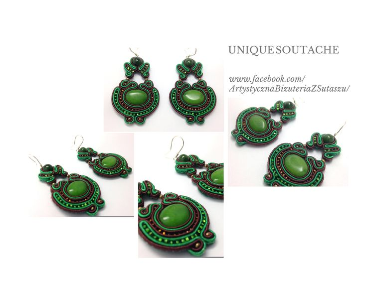 Gorgeous soutache earrings from Unique Soutache.