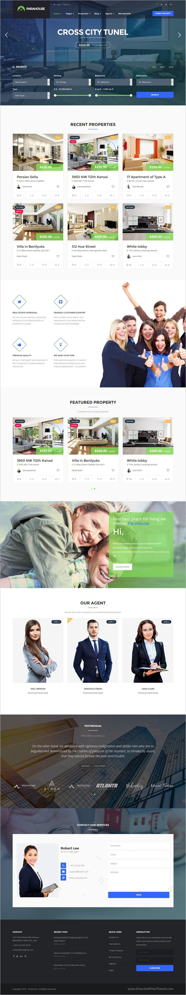 Parahouse is a wonderful responsive #WordPress theme for #realestate, Property Agents, Rent #Villa, #Apartment website download now➩ https://themeforest.net/item/parahouse-modern-real-estate-wordpress-theme/18150539?ref=Datasata