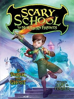 """The Northern Frights: In The Northern Frights, the third book in the spooky Scary School series, Charles """"New Kid"""" Nukid and his friends, including Lattie, a girl ninja, must fight an epic battle with an ice dragon to save their school. But first they must survive going to Scream Academy as exchange students. And that may be hard, because the Academy has an abominable snowman for a principal, a Headless Horseman as one of the teachers, and the students are yetis, trolls, and ogres!"""