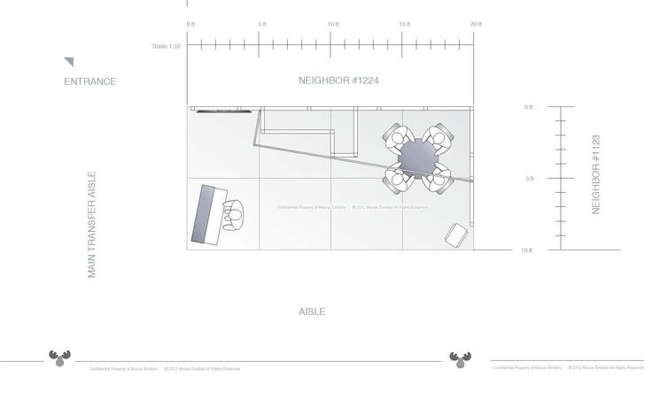 10 x 20 trade show exhibit floor plan design rcs 10 x for Trade show floor plan